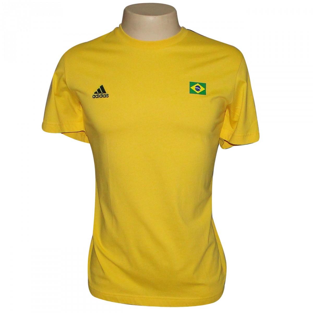 80ea1a4d01 Camiseta Adidas Brasil Ref.p98716 8968 - AMARELO VERDE - Chuteira ...