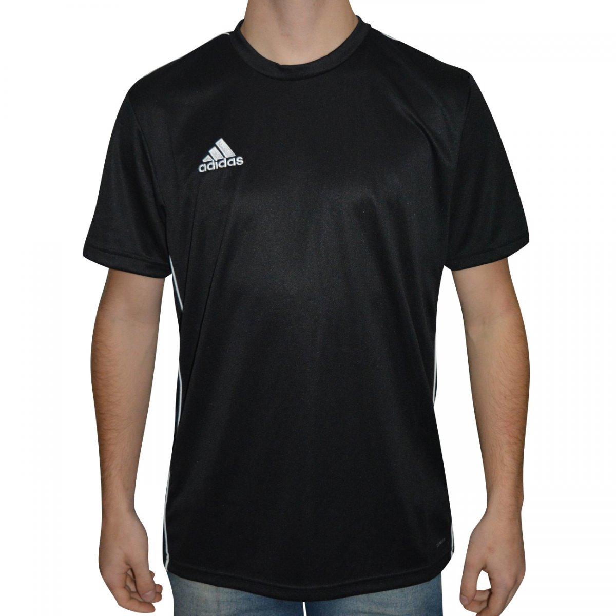 Camiseta Adidas Core 18 CE9021 - Preto branco - Chuteira Nike ... 6e5d7dc6027