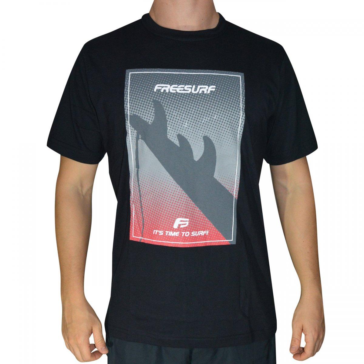 a840294217498 Camiseta Free Surf Santa Monica 110405031 - Preto - Chuteira Nike, Adidas.  Sandalias Femininas. Sandy Calçados