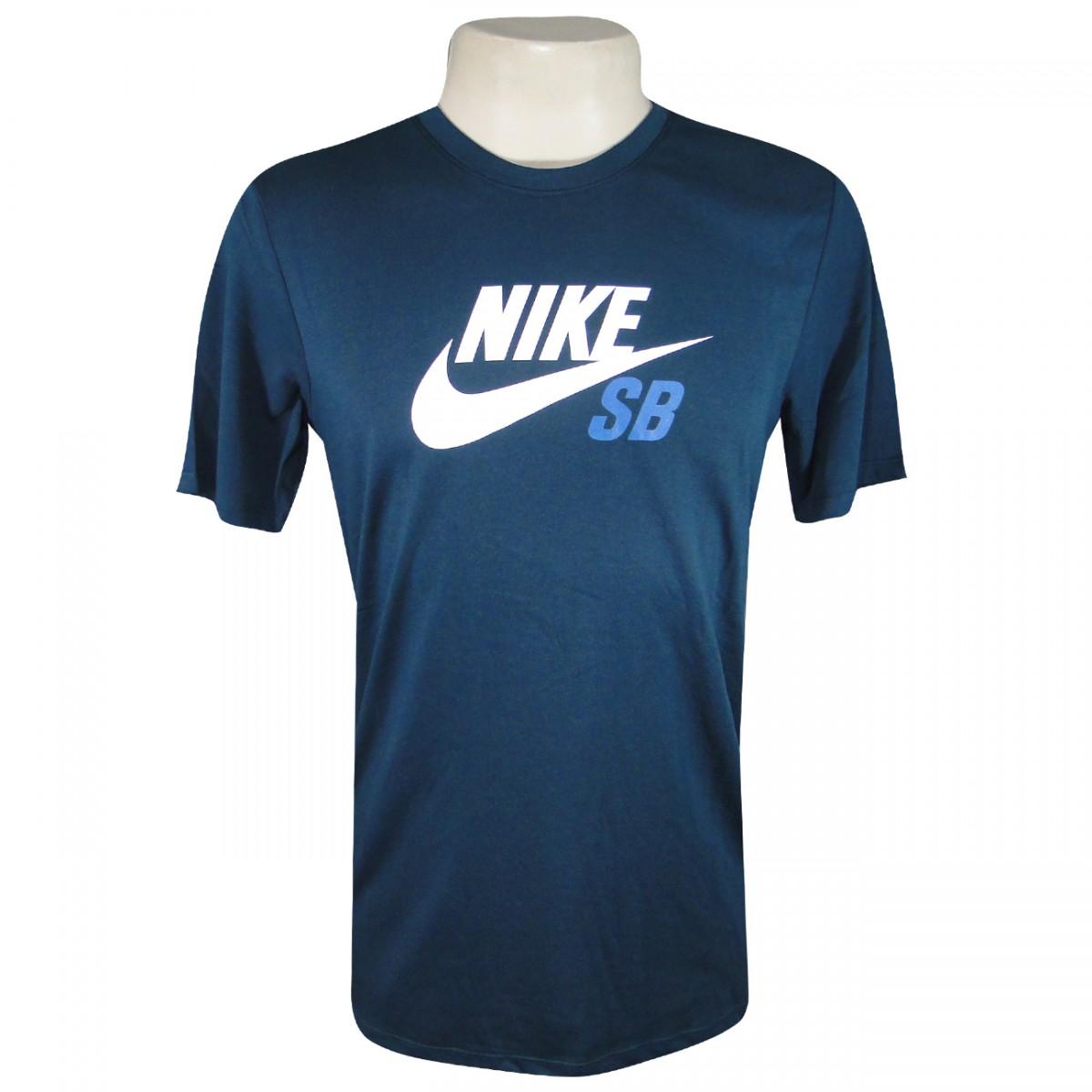 ddd227fd9b154 Camiseta Nike SB 698250 698250 464 - Petroleo - Chuteira Nike ...