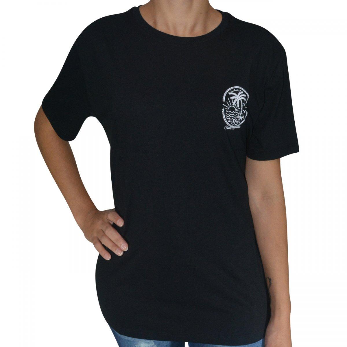 5d804d593 Camiseta Vida Marinha Cmh2731 Feminina CMH2731 P2 - Preto - Chuteira Nike,  Adidas. Sandalias Femininas. Sandy Calçados