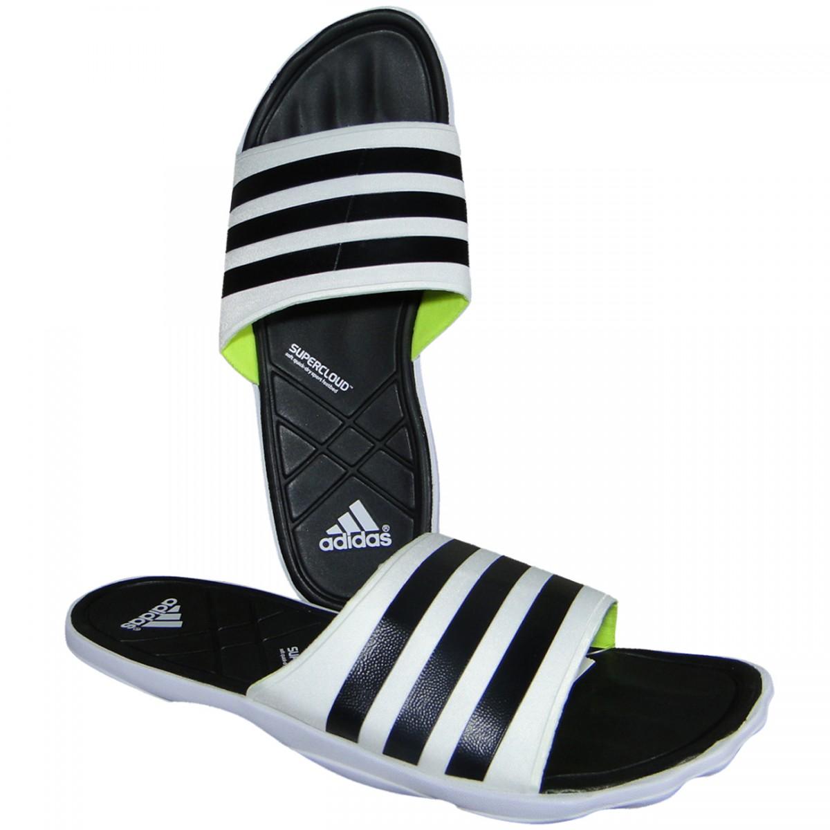 205a68ff5850 ... chinelos nike e adidas Chinelo Adidas Adipure Slide B33744 - Branco  Preto - Chuteira ...