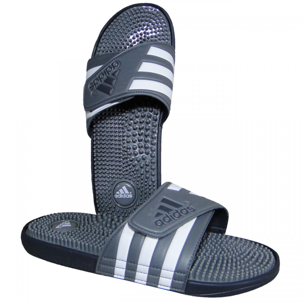 a876369fae2 Chinelo Adidas Adissage B23246 - Cinza Branco - Chuteira Nike ...