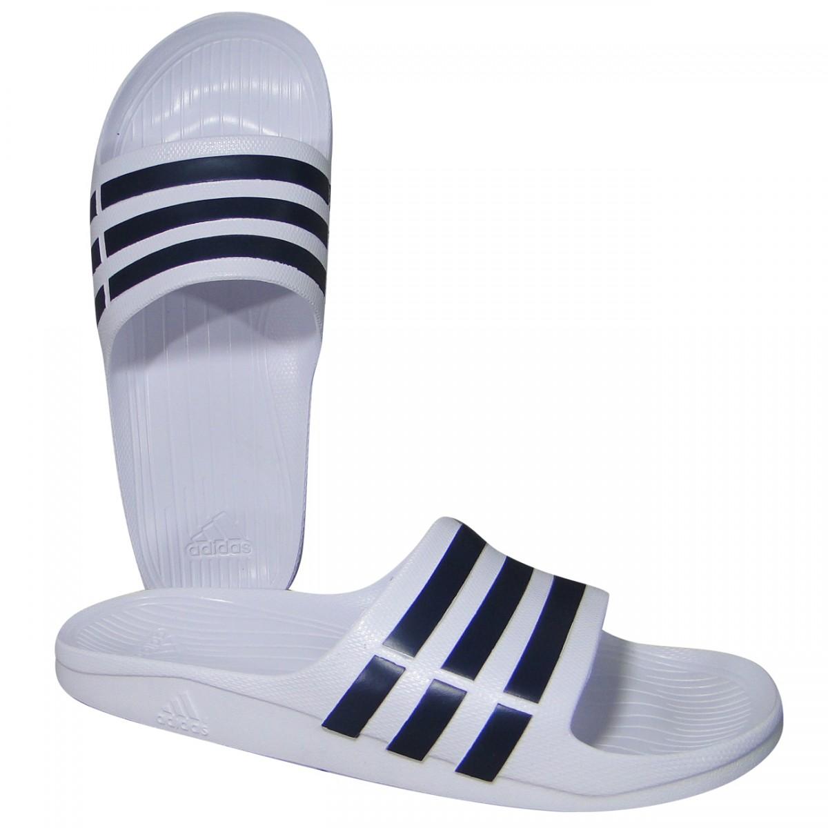 9663489c196 Chinelo Adidas Duramo Slide F32892 - Branco Preto - Chuteira Nike ...