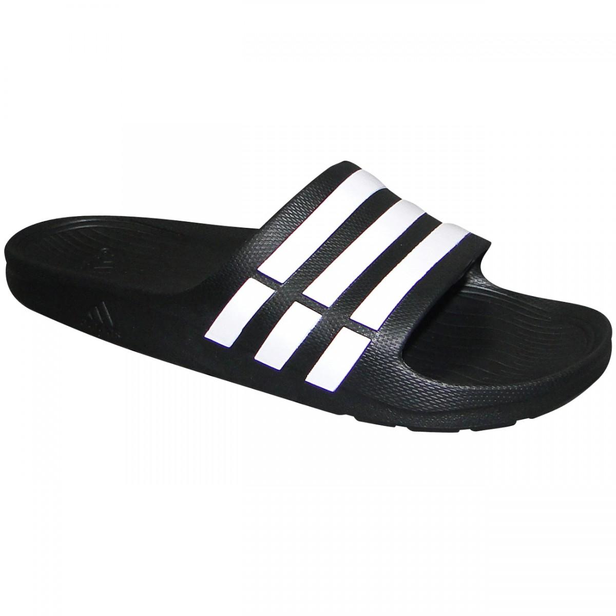 41cb29d25 Chinelo Adidas Duramo Slide G15890 - Preto Branco - Chuteira Nike ...