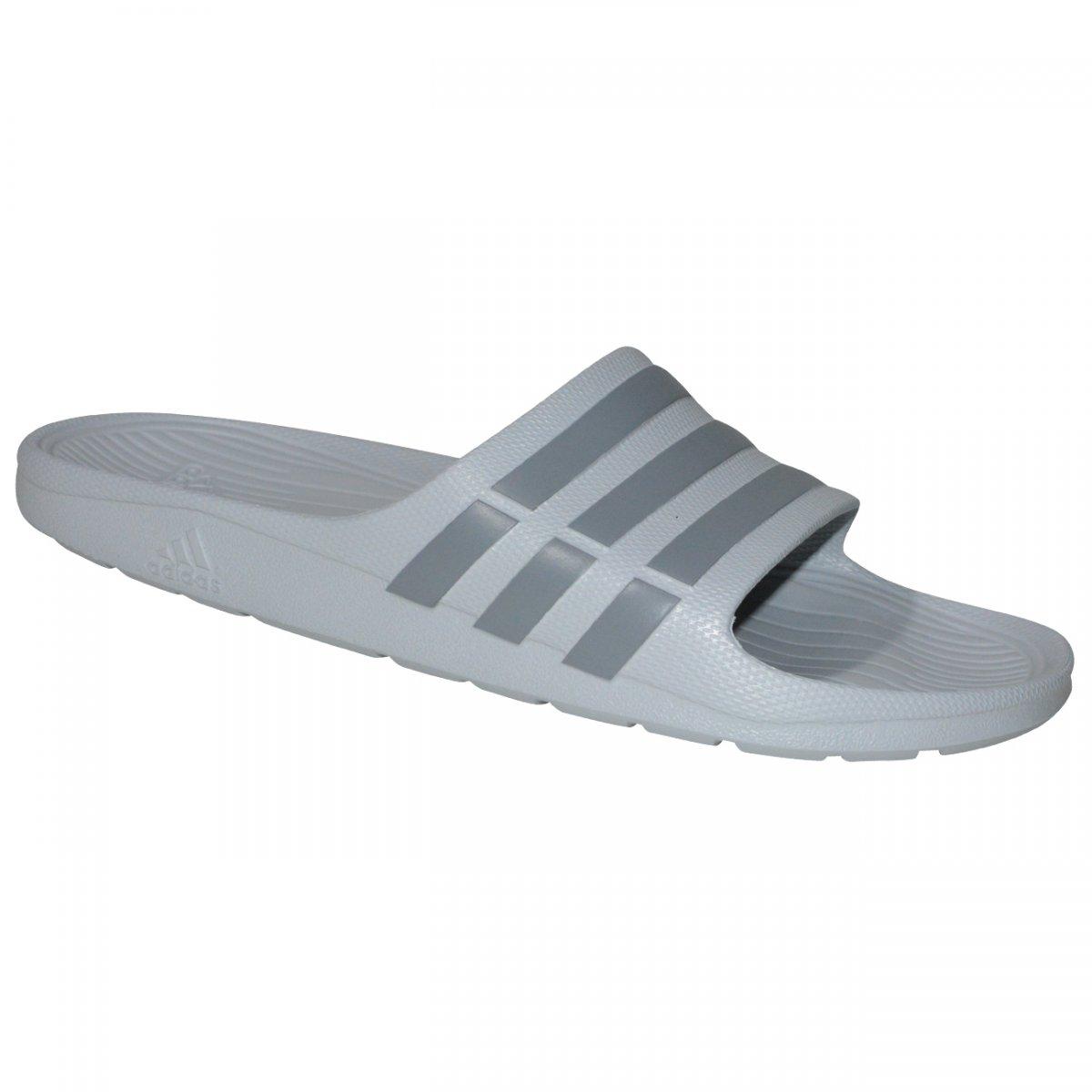 9139425494 Chinelo Adidas Duramo Slide B44298 - Cinza chumbo - Chuteira Nike ...