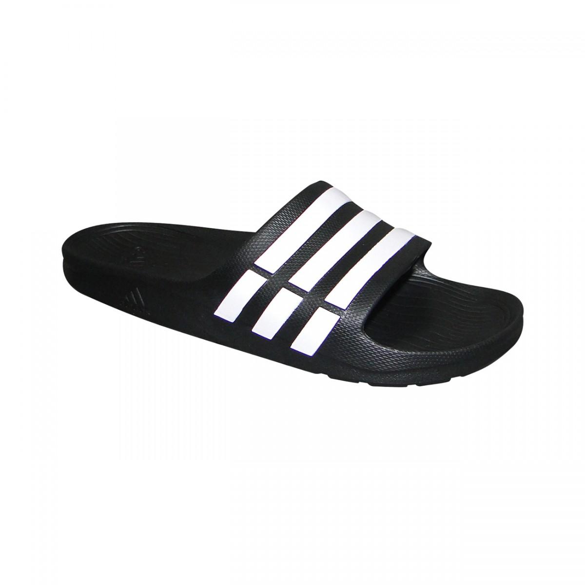 4b8e90720 Chinelo Adidas Duramo Slide Juvenil G06799 - Preto/Branco - Chuteira Nike,  Adidas. Sandalias Femininas. Sandy Calçados