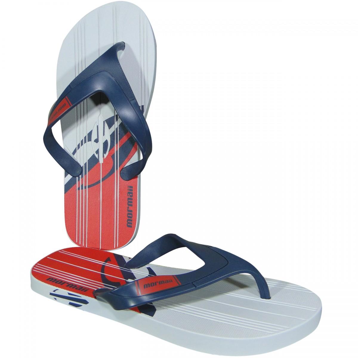 579adbd735 Chinelo Mormaii Tropical Pro 11060 11060 - 23648 - Branco Azul Vermelho -  Chuteira Nike