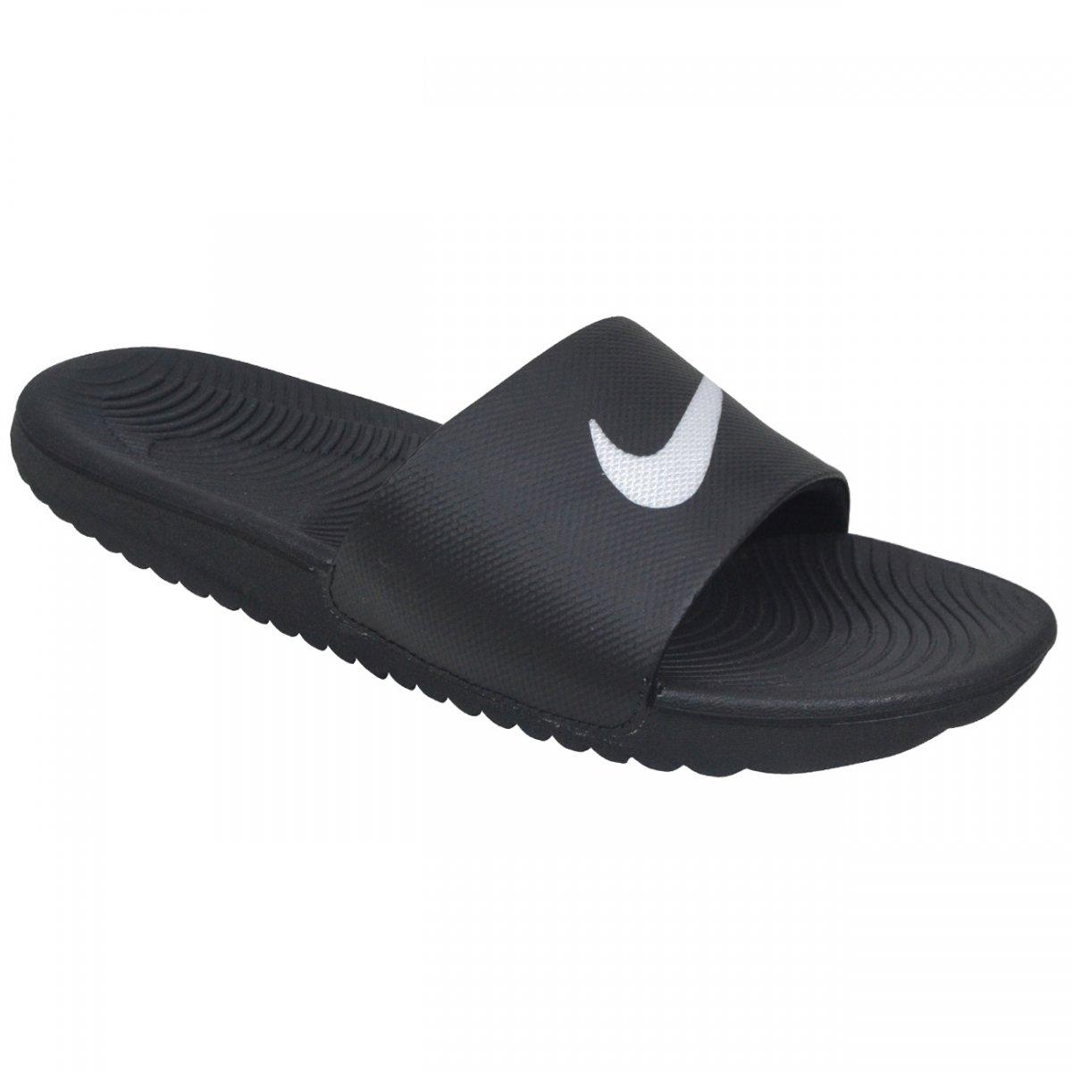 741d6a0333 Chinelo Nike Kawa Slide 83264 010 - Preto branco - Chuteira Nike ...