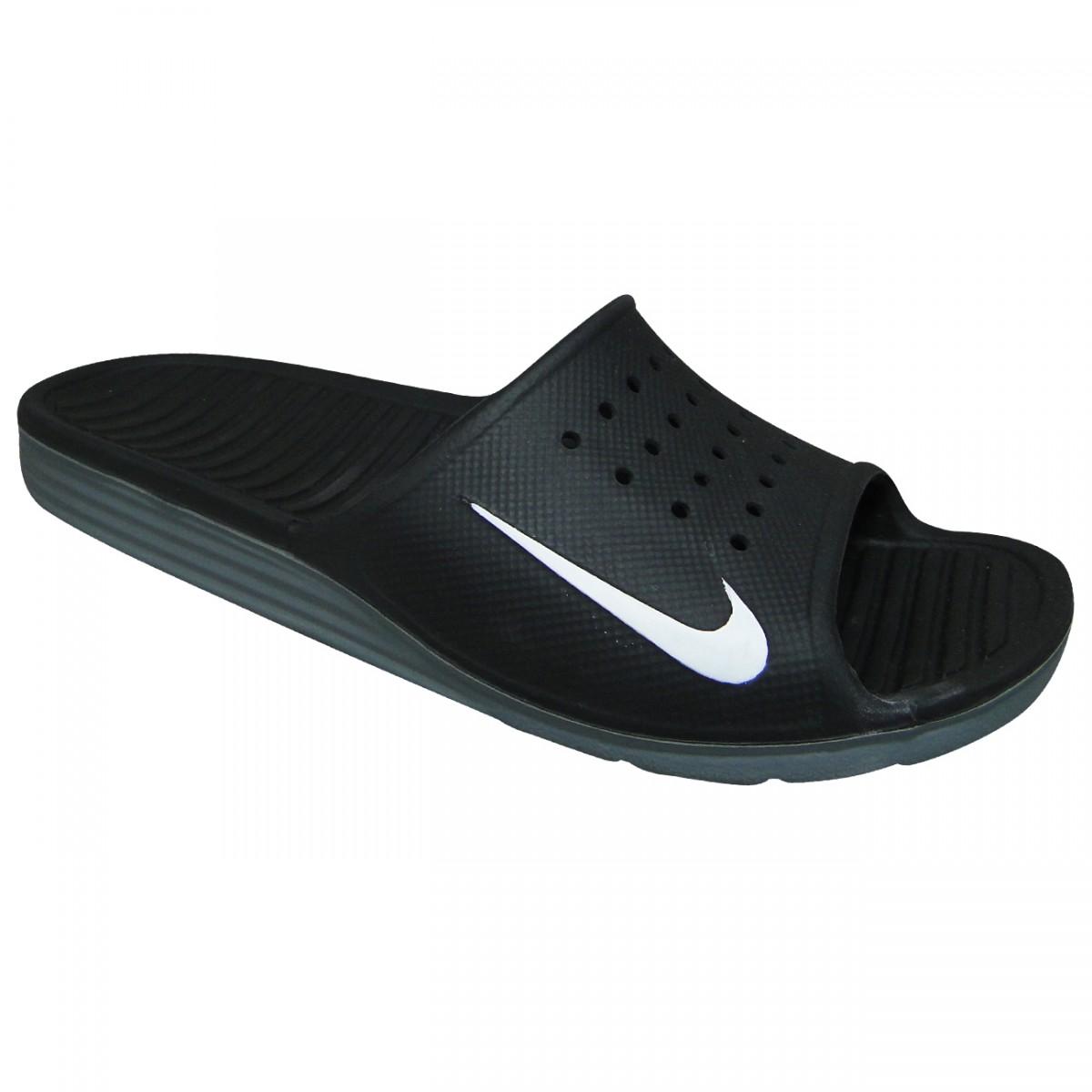 6cb4517a65 Chinelo Nike Solarsoft Slide 386163 011 - Preto/Branco - Chuteira Nike,  Adidas. Sandalias Femininas. Sandy Calçados