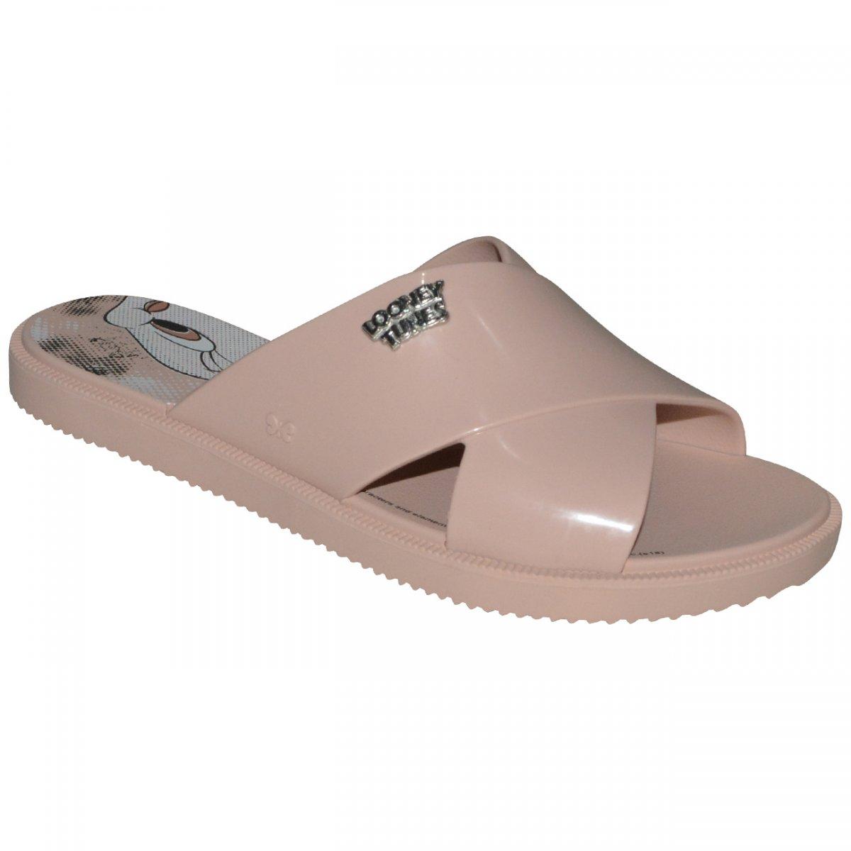 471154776 Chinelo Zaxy Looney Tunes 17762 17762 - 90773 - Nude - Chuteira Nike,  Adidas. Sandalias Femininas. Sandy Calçados