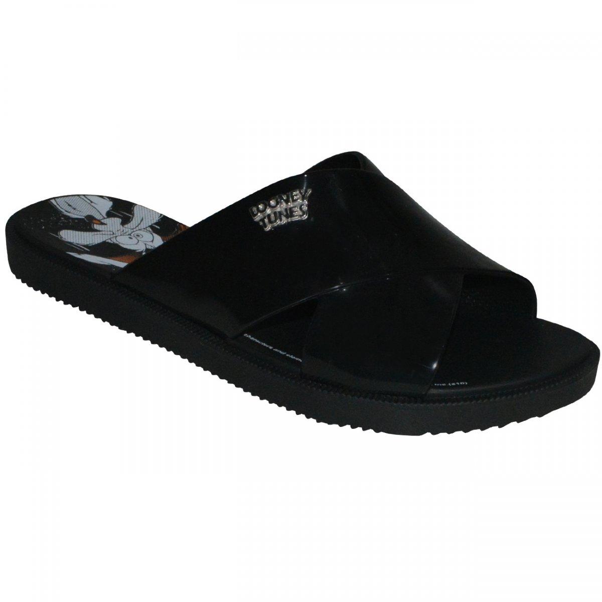 f3c496906 Chinelo Zaxy Looney Tunes 17762 17762 - 90773 - Preto - Chuteira Nike,  Adidas. Sandalias Femininas. Sandy Calçados