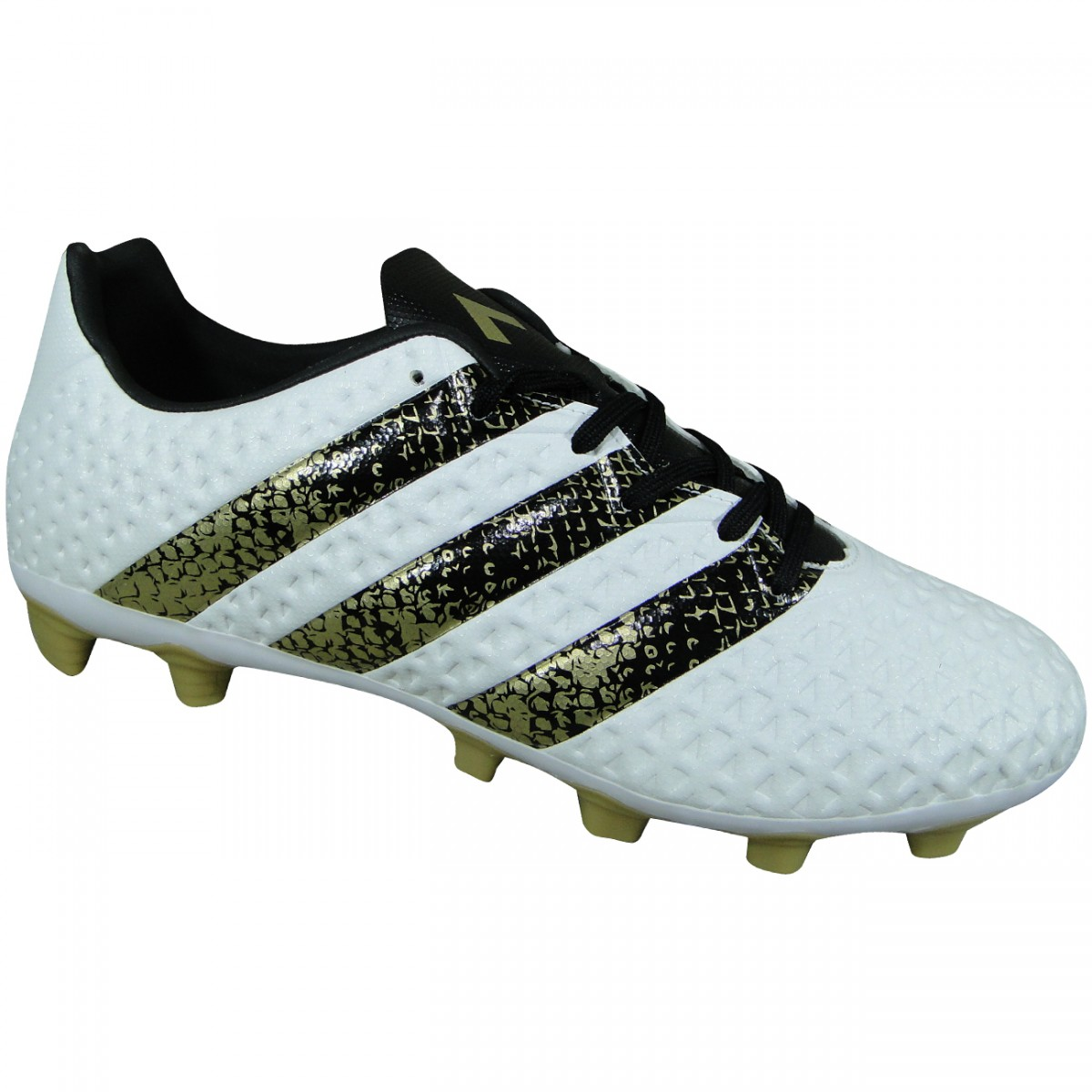 14c2e1f16 Chuteira Adidas Ace 16.4 S42139 - Branco/Preto/Dourado - Chuteira Nike,  Adidas. Sandalias Femininas. Sandy Calçados