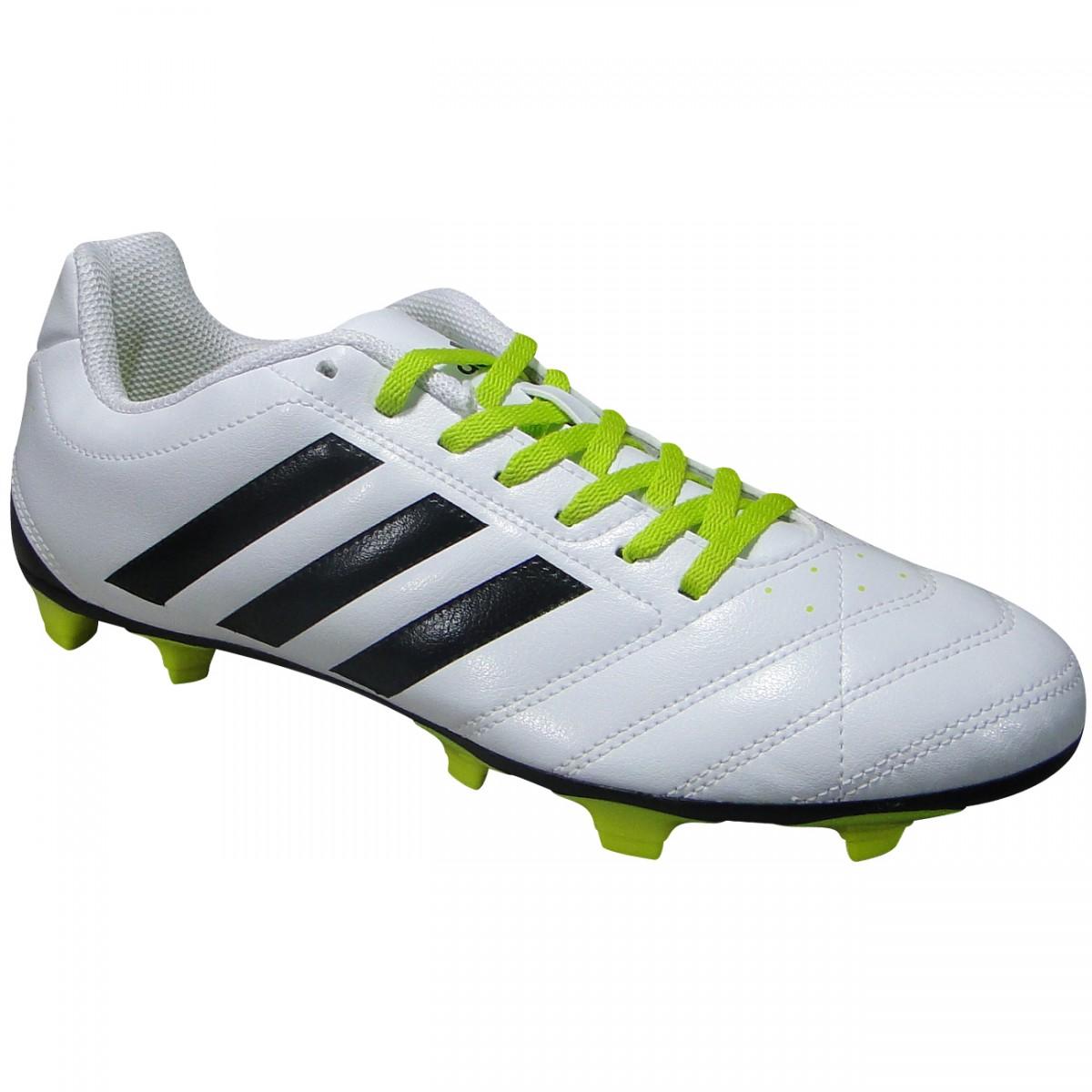 92ce851f39209 Chuteira Adidas Goletto V FG B27068 - Branco/Preto/Limão - Chuteira Nike,  Adidas. Sandalias Femininas. Sandy Calçados