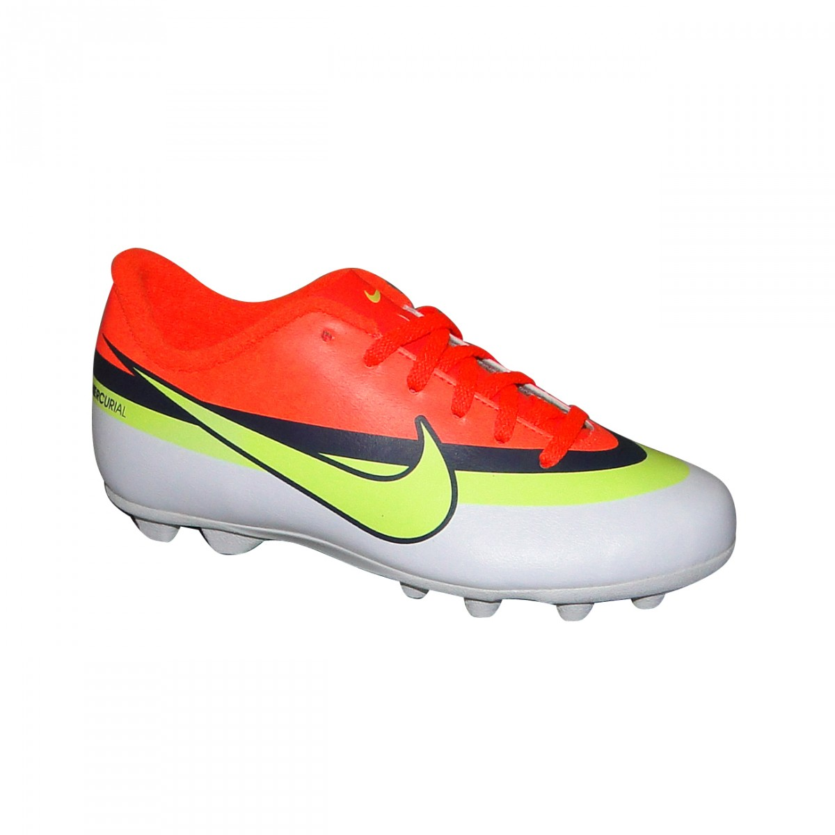 9dcc5bbe17 Chuteira Nike Mercurial Vortex Infantil 587244-174 - Laranja Limão ...