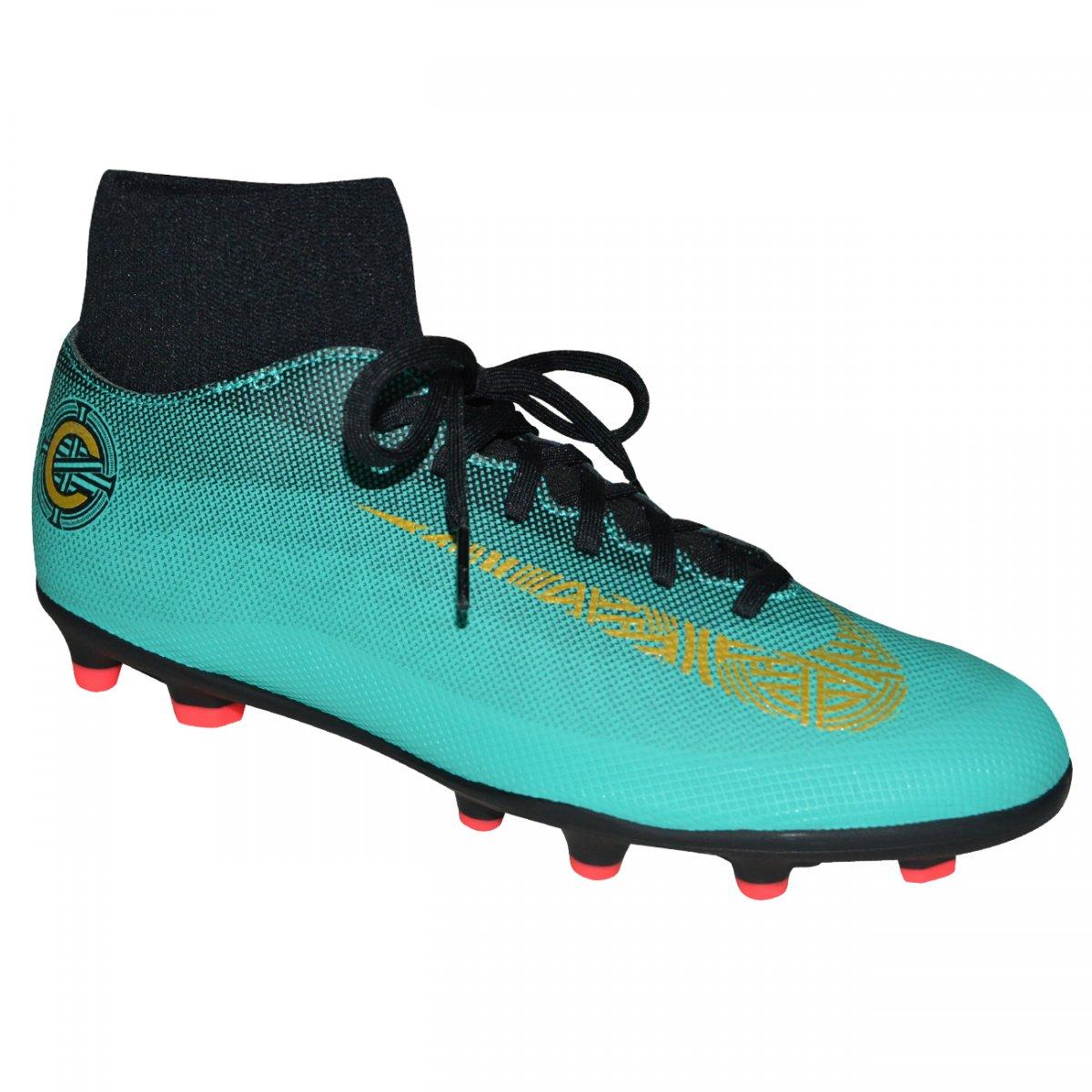 92bc3e8403acf Chuteira Nike Superfly 6 Club CR7 AJ3545 390 - Verde/dourado - Chuteira Nike,  Adidas. Sandalias Femininas. Sandy Calçados
