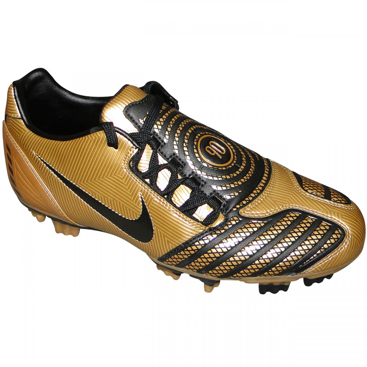 ae7dd97283c62 Chuteira Nike T90 Shoot 6017 - DOURADO/PRETO - Chuteira Nike, Adidas ...