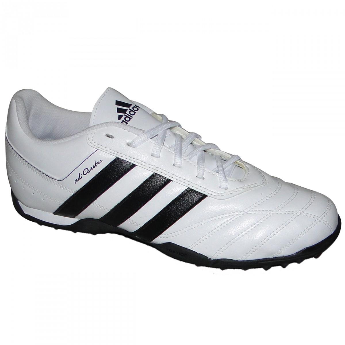 Chuteira Society Adidas Adiquestra 7153 - BRANCO PRETO - Chuteira Nike 5894824cf907c