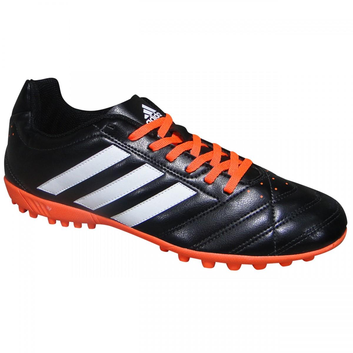 db6270da50 Chuteira Society Adidas Goletto V B27092 - Preto Branco Laranja - Chuteira  Nike