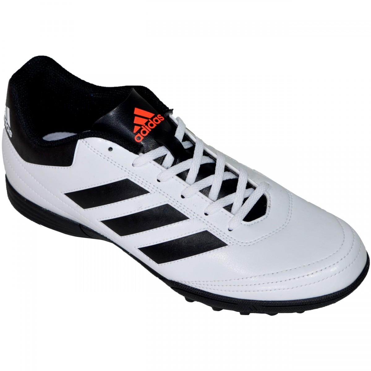 3268303231 Chuteira Society Adidas Goletto VI AQ4302 - Branco Preto - Chuteira Nike