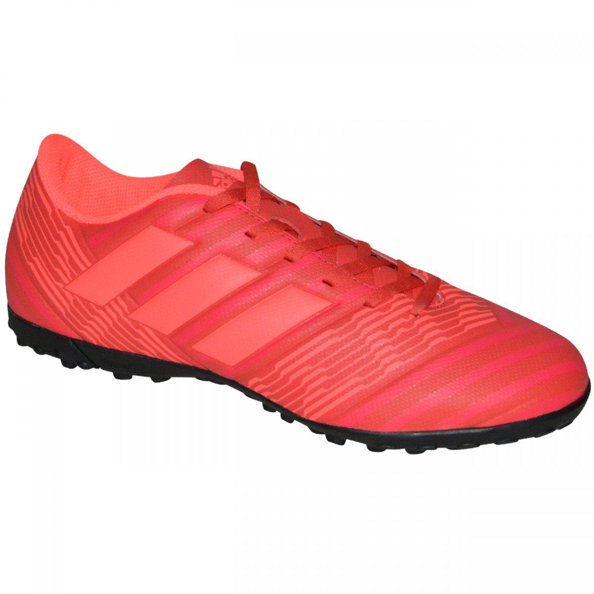 10963034b85b2 Chuteira Society Adidas Nemeziz Tango 17.4 CP9060 - Vermelho/coral -  Chuteira Nike, Adidas. Sandalias Femininas. Sandy Calçados