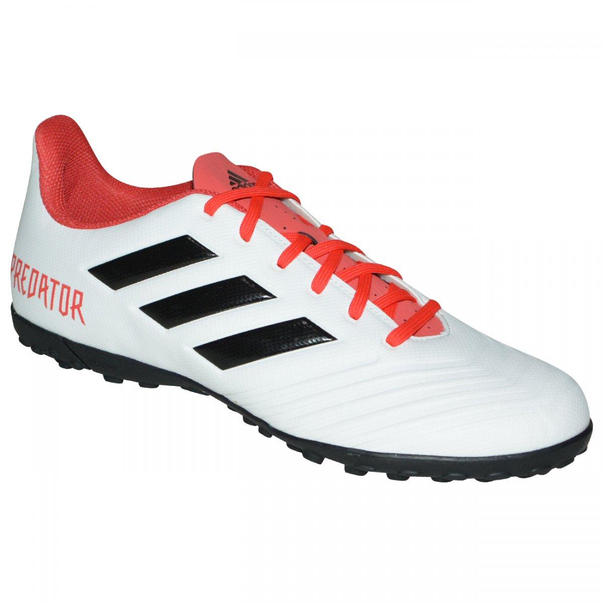 0c4b0be19c Chuteira Society Adidas Predator Tango 18.4 CP9932 - Branco preto vermelho  - Chuteira Nike