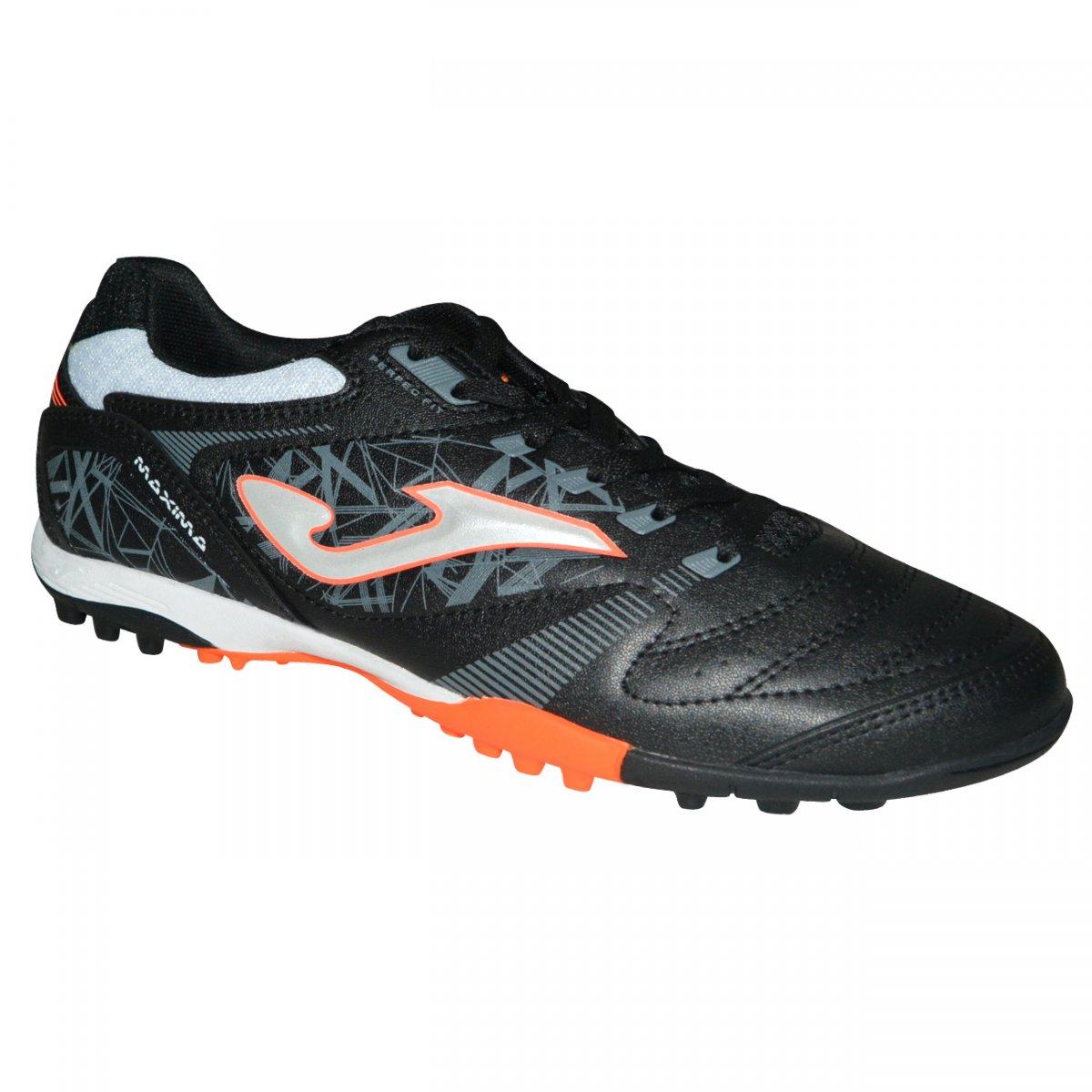 Chuteira Society Joma Maxima 801 MAXS.801.TF - Preto prata - Chuteira Nike cb7f9e3000606
