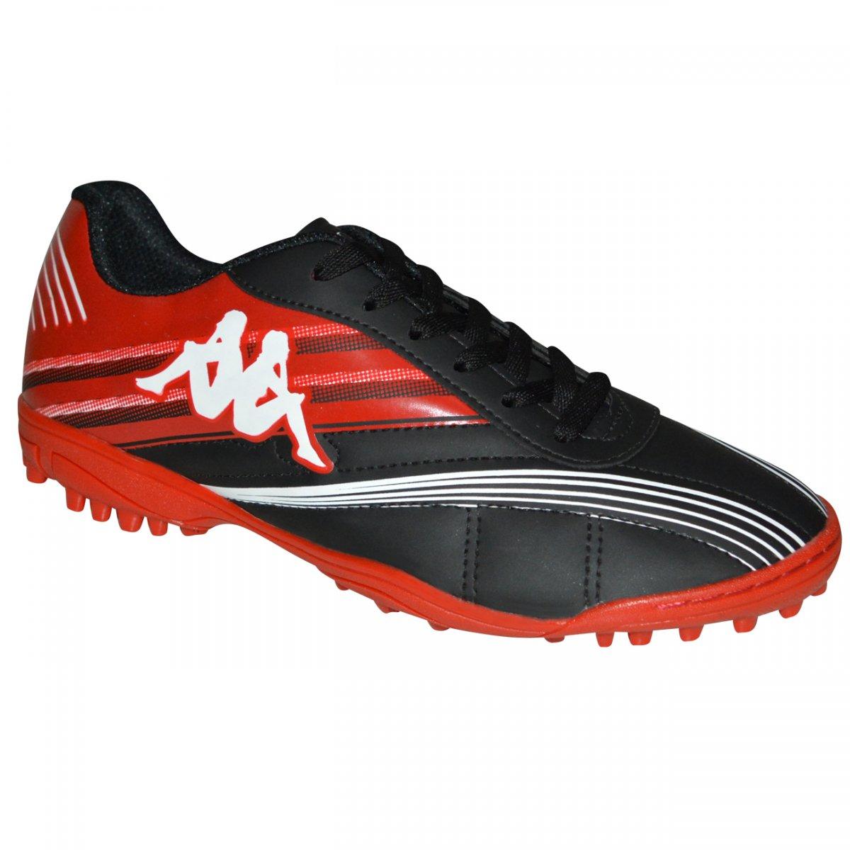 83b70e7a27bfc Chuteira Society Kappa Modena II 8302 10.14.45 - Preto/vermelho - Chuteira  Nike, Adidas. Sandalias Femininas. Sandy Calçados