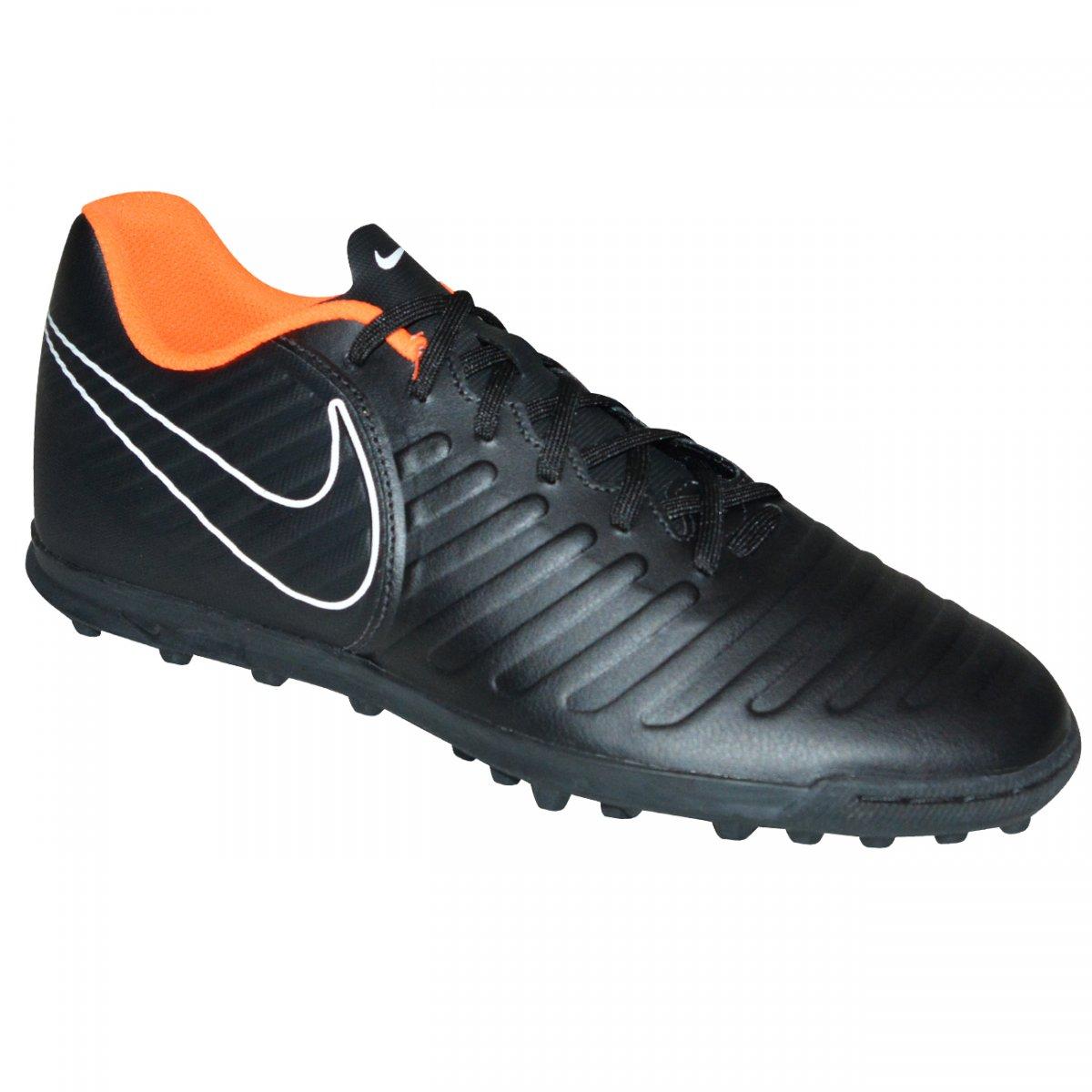 74c95f920 Chuteira Society Nike Legendx 7 Club AH7248 080 - Preto/laranja/branco - Chuteira  Nike, Adidas. Sandalias Femininas. Sandy Calçados