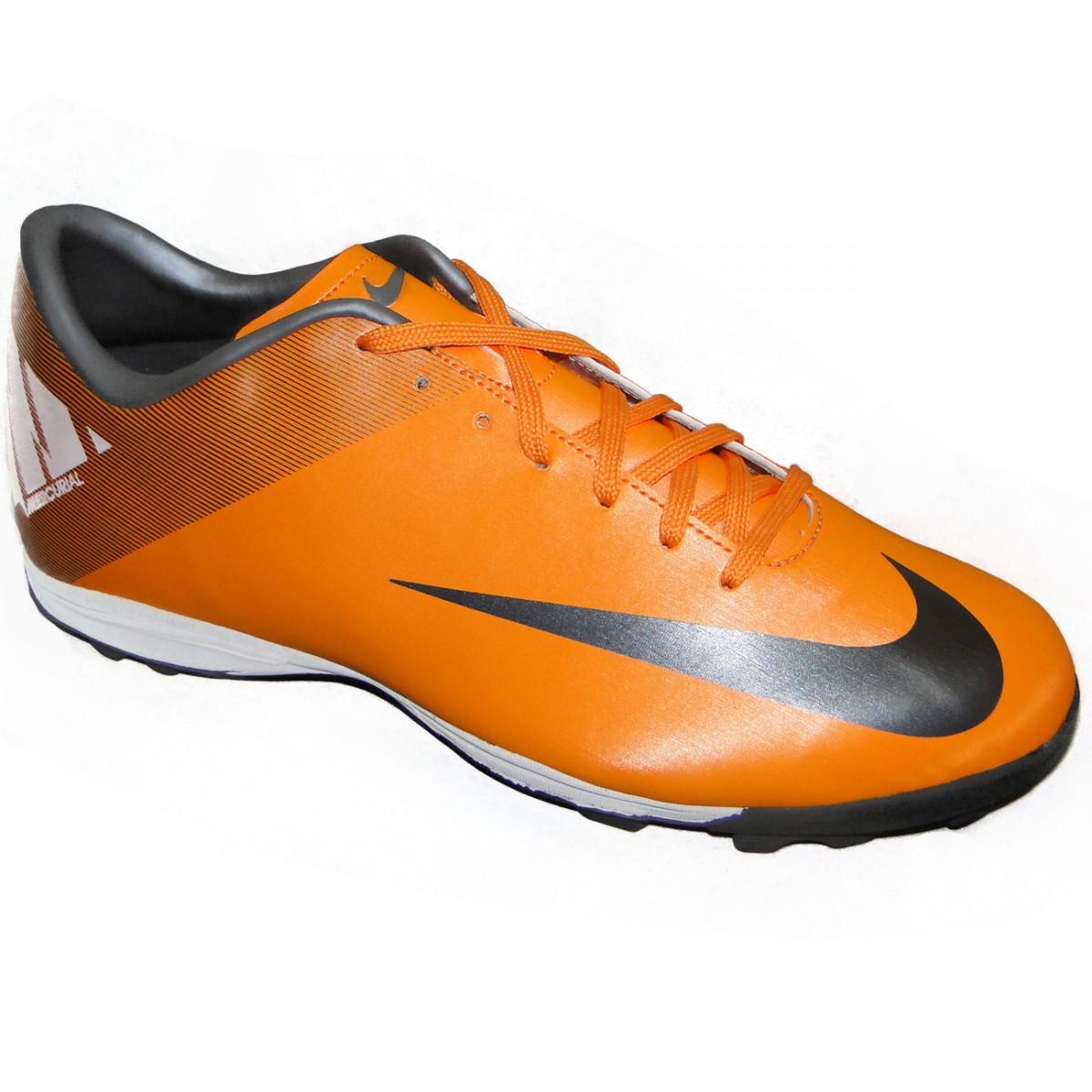 2261fc37f9635 Chuteira Society Nike Mercurial Victory Ii 9827 - LARANJA/PRETO - Chuteira  Nike, Adidas. Sandalias Femininas. Sandy Calçados