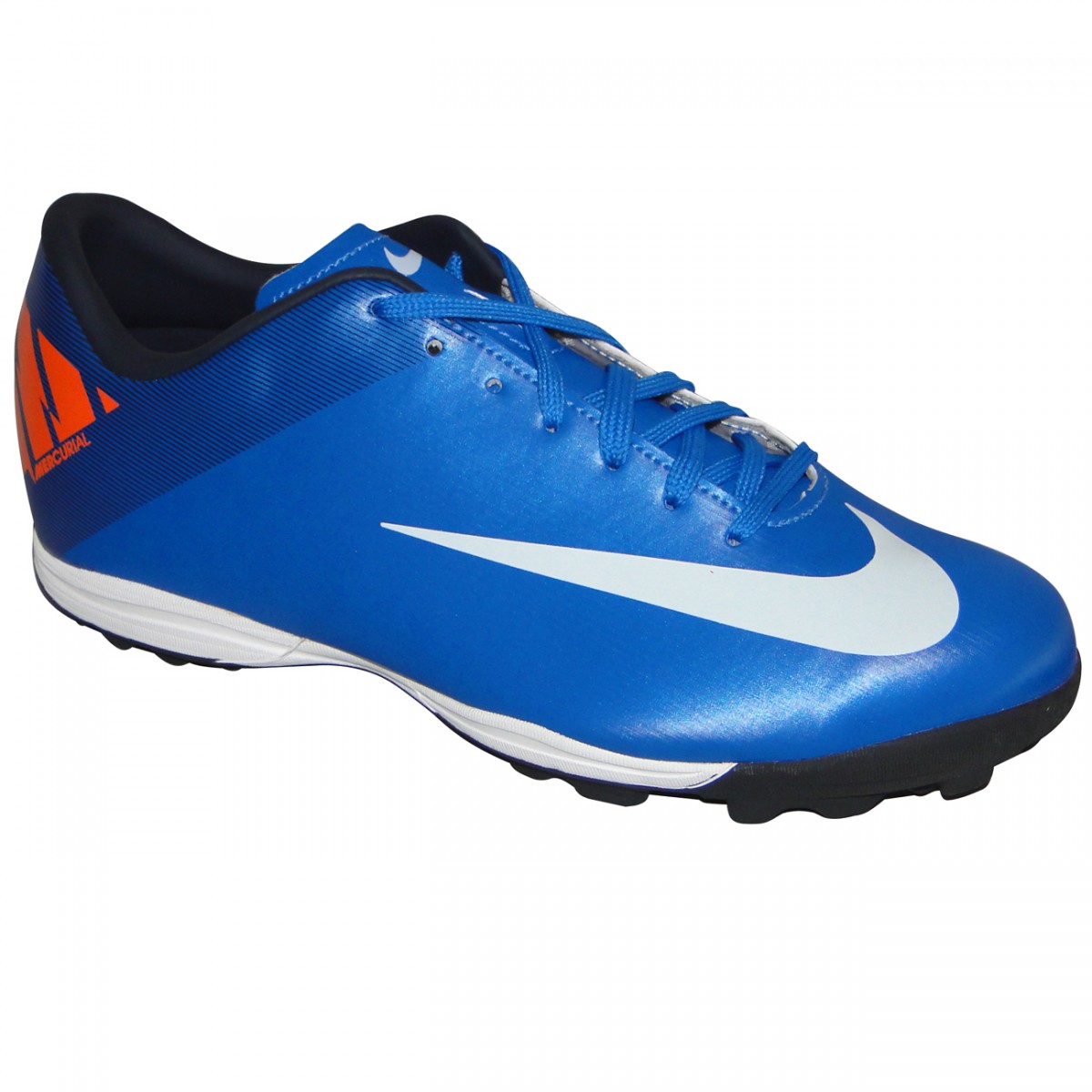 8c20a5de002d1 Chuteira Society Nike Mercurial Victory Ii 8895 - AZUL - Chuteira Nike,  Adidas. Sandalias Femininas. Sandy Calçados