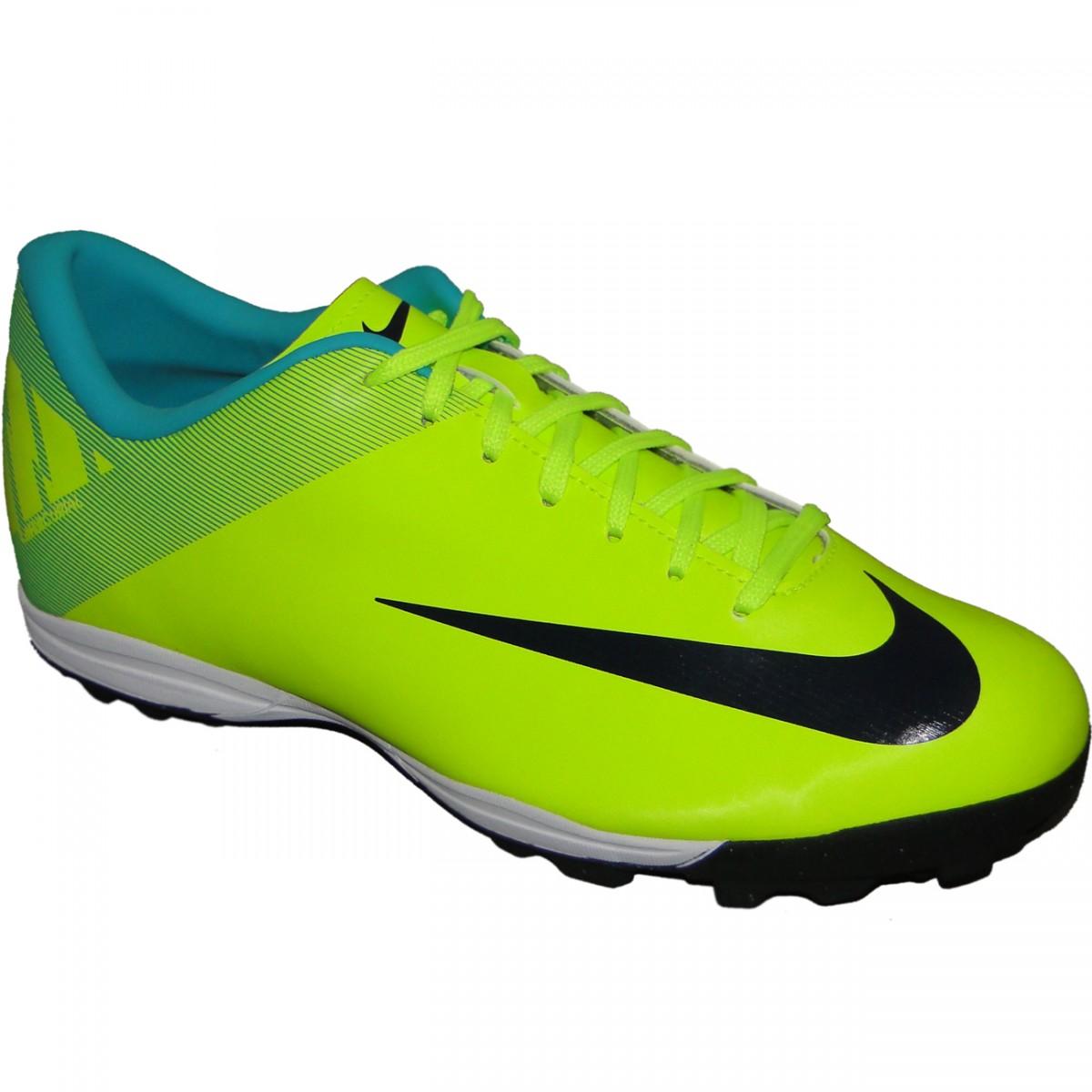 1c108a65dcd0e Chuteira Society Nike Mercurial Victory Ii 1620 - VERDE/LIMÃO ...