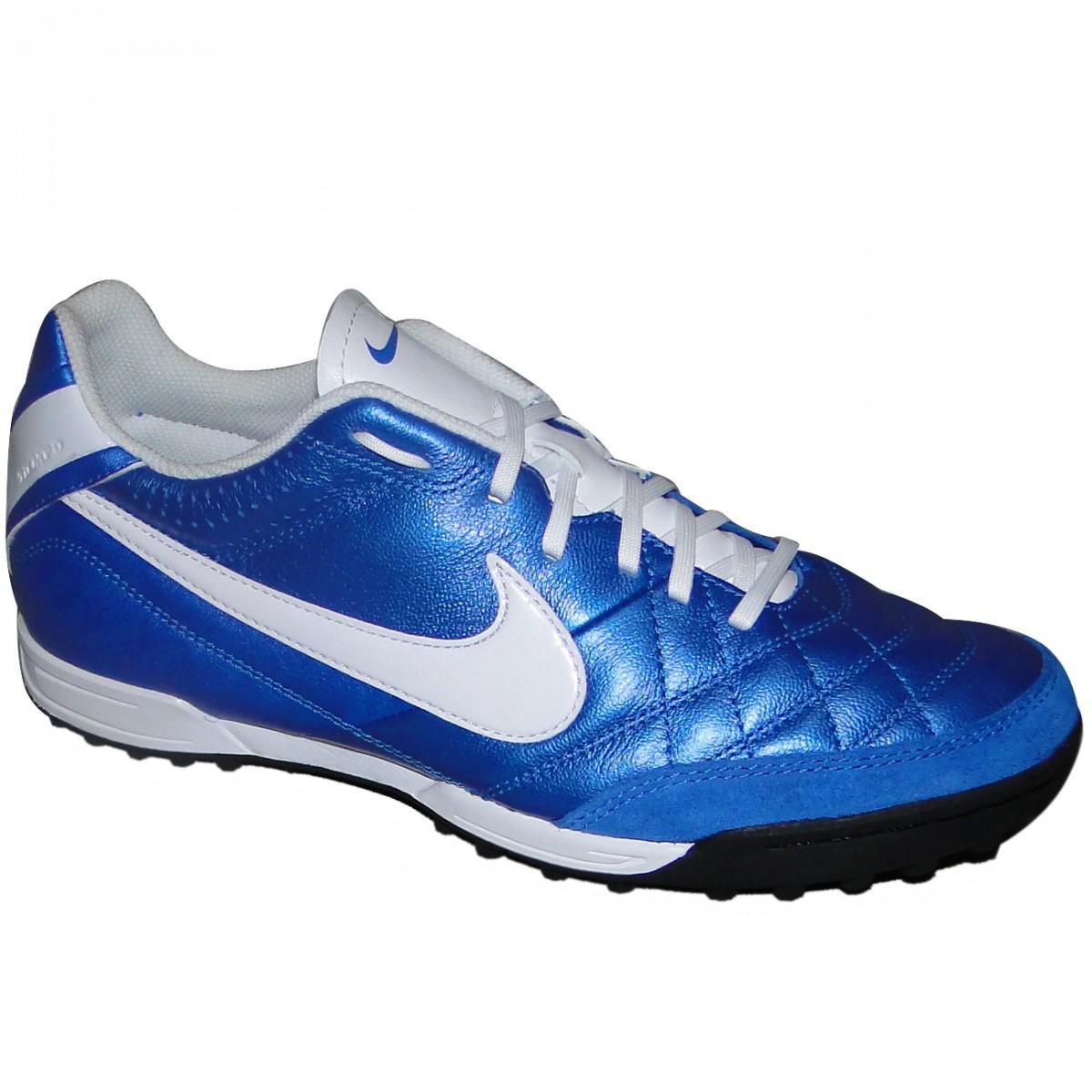 Chuteira Society Nike Tiempo Natural Iv 509089-419 - Azul Branco - Chuteira  Nike 674e2031fb6dc