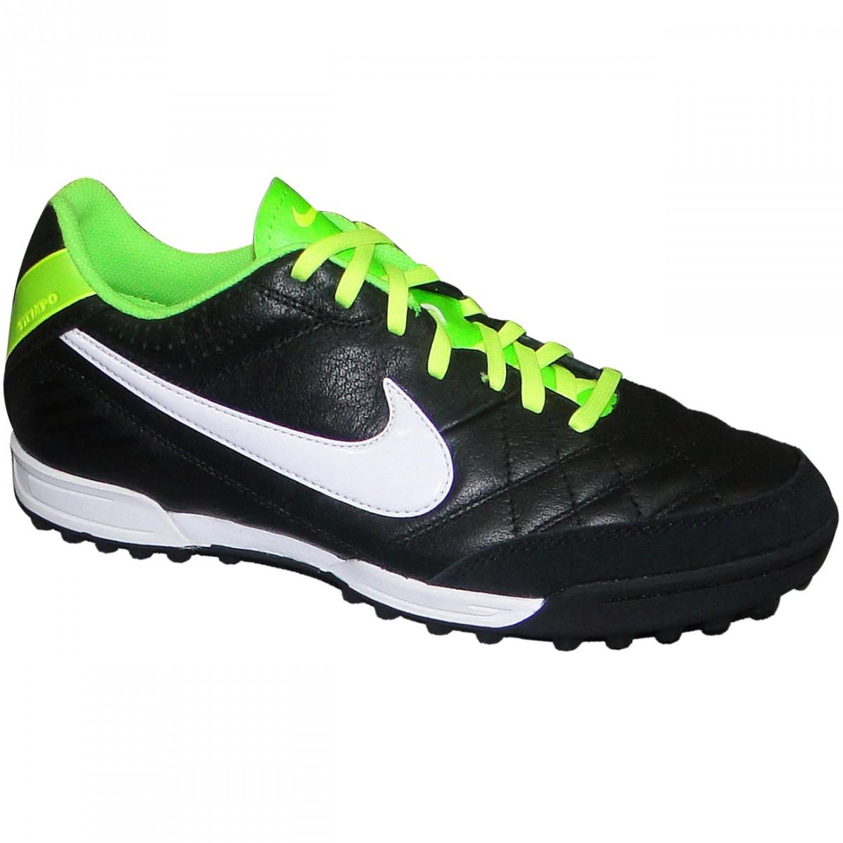 c03d853a81 Chuteira Society Nike Tiempo Natural Iv 509089-013 - Preto Limão - Chuteira  Nike
