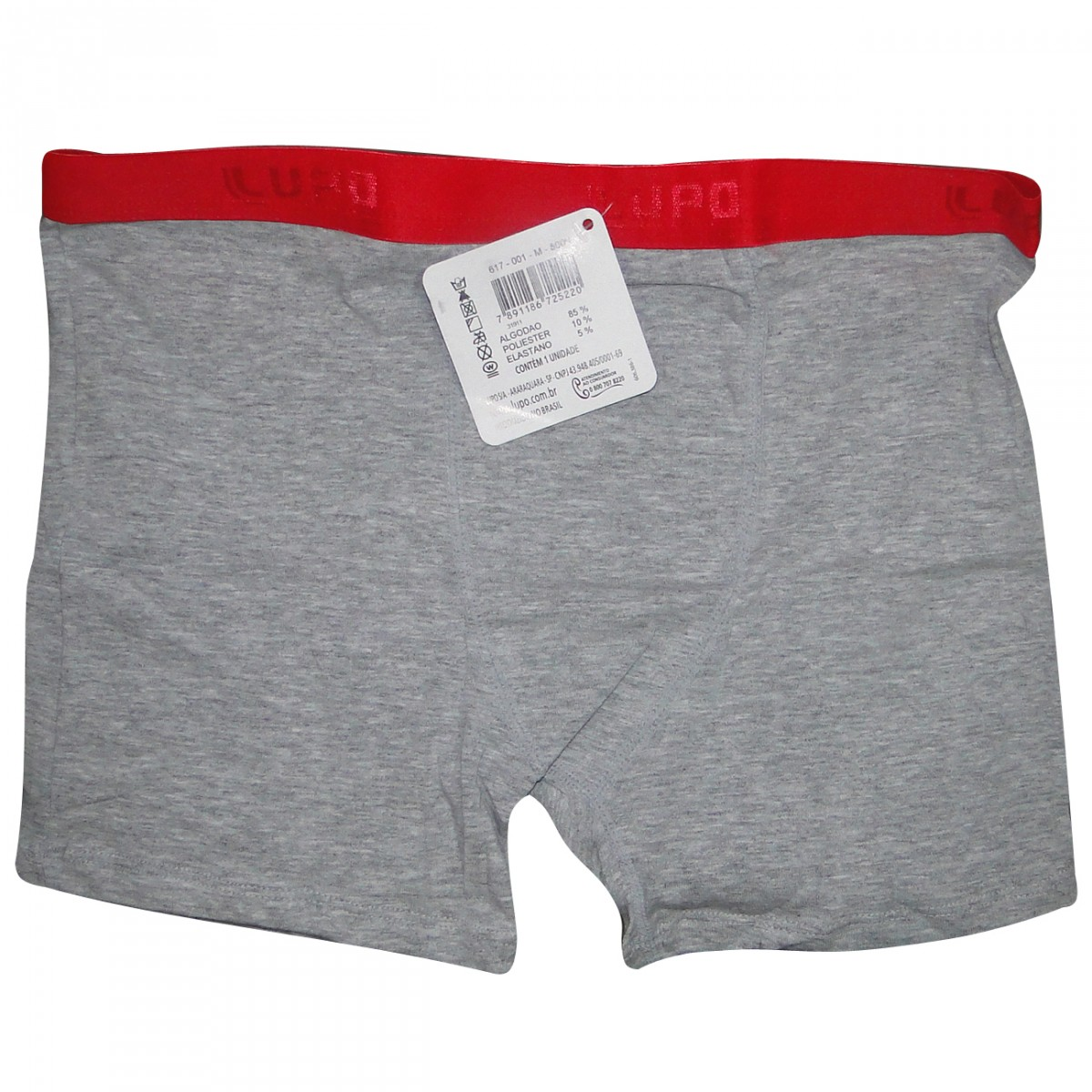 3eb800a74 Cueca Lupo Boxer 617 617-8000 - Mescla Vermelho - Chuteira Nike ...