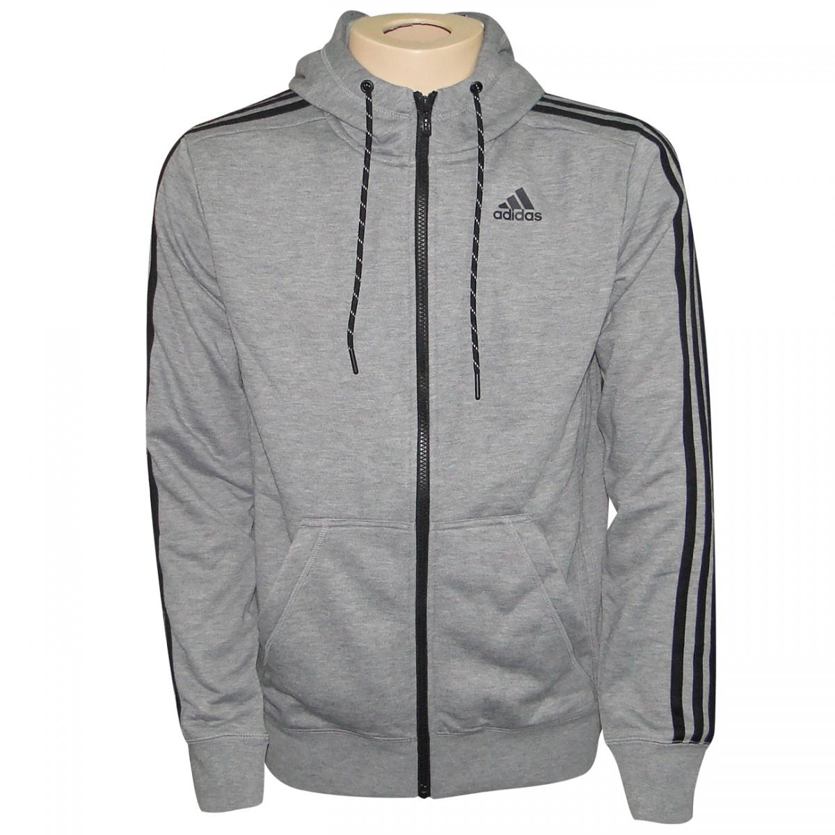 5f755a01c Jaqueta Adidas Ess The Hood S12904 - Mescla/Preto - Chuteira Nike, Adidas.  Sandalias Femininas. Sandy Calçados