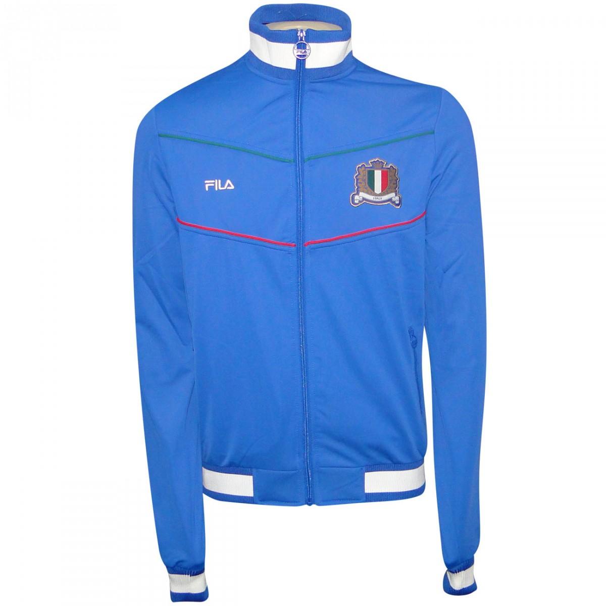 9979b7e98bb5c Jaqueta Italia Fila 2014 521615 - Royal - Chuteira Nike