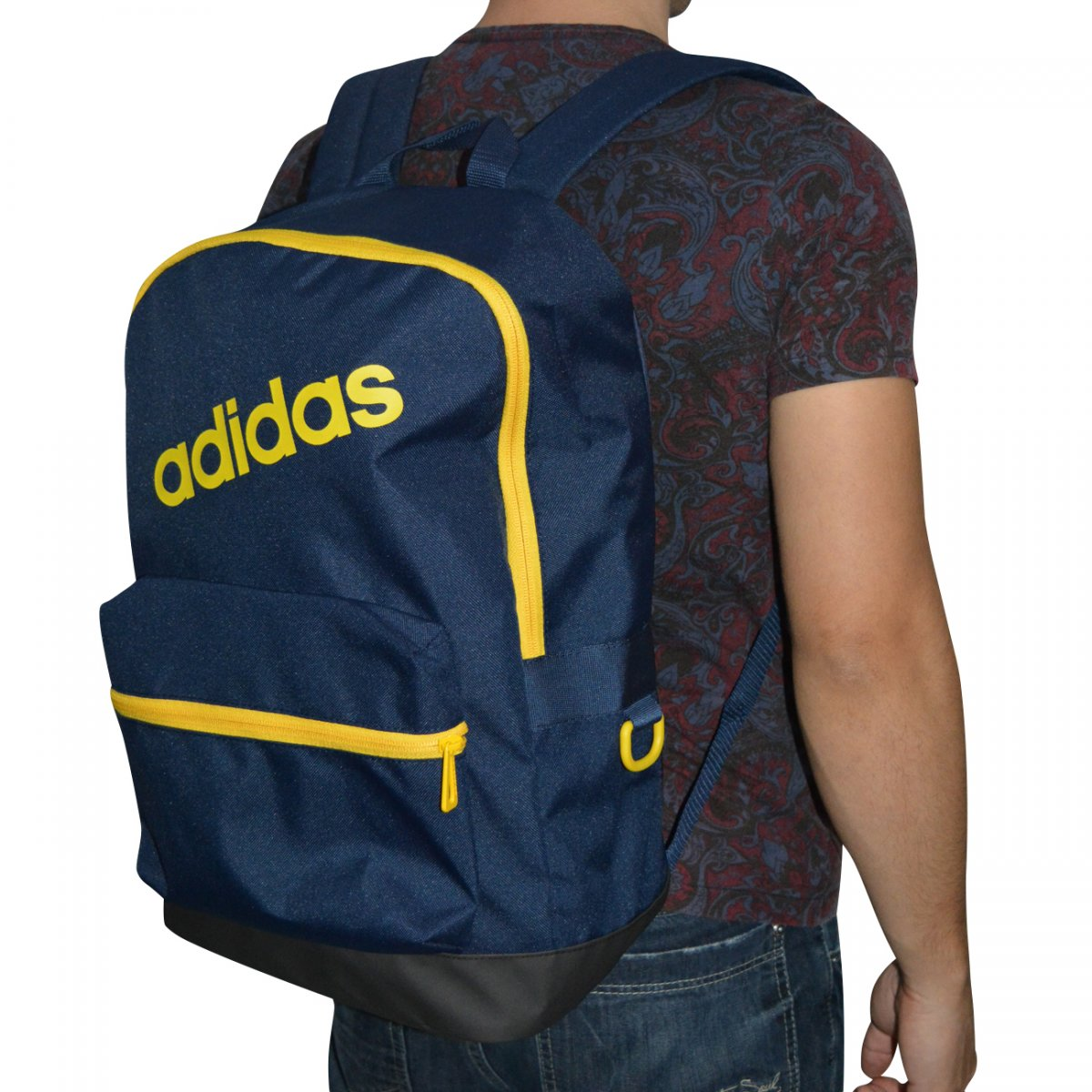 d8b9b77b8 Mochila Adidas BP Daily CD9921 - Marinho/amarelo - Chuteira Nike, Adidas.  Sandalias Femininas. Sandy Calçados
