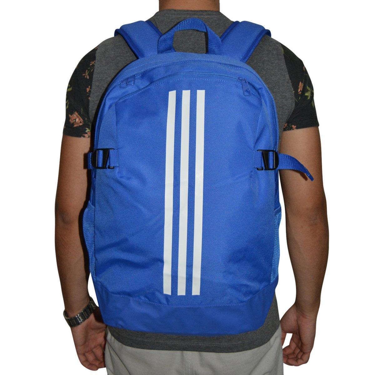 52abfd790 Mochila Adidas BP Power IV CG0494 - Azul/branco - Chuteira Nike, Adidas.  Sandalias Femininas. Sandy Calçados