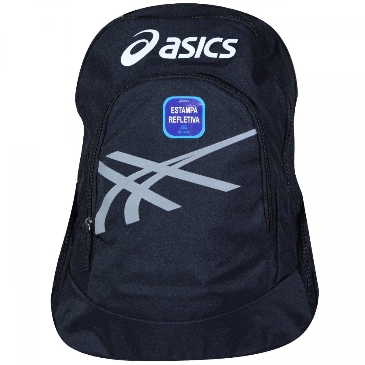 6ff1e0271 Mochila Asics ZRB2804 ZRB2804 90 - Preto/Prata - Chuteira Nike, Adidas.  Sandalias Femininas. Sandy Calçados