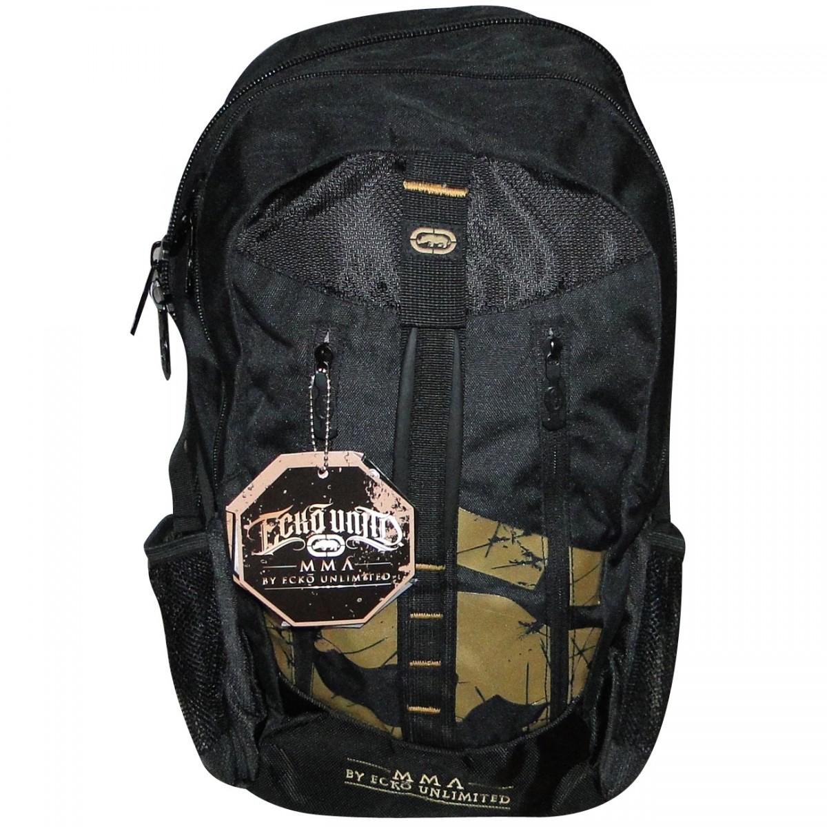 1e03ed56e2d Mochila Ecko Ref.16001 MMA EMOU16001 - Preto Dourado - Chuteira Nike ...