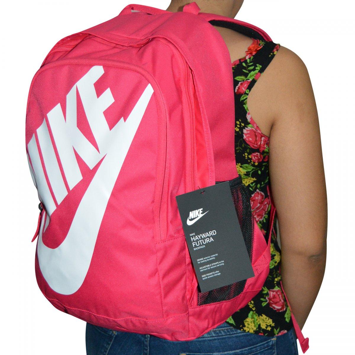 96c9974f1 Mochila Nike BA5217 BA5217-694 - Pink/branco - Chuteira Nike, Adidas.  Sandalias Femininas. Sandy Calçados