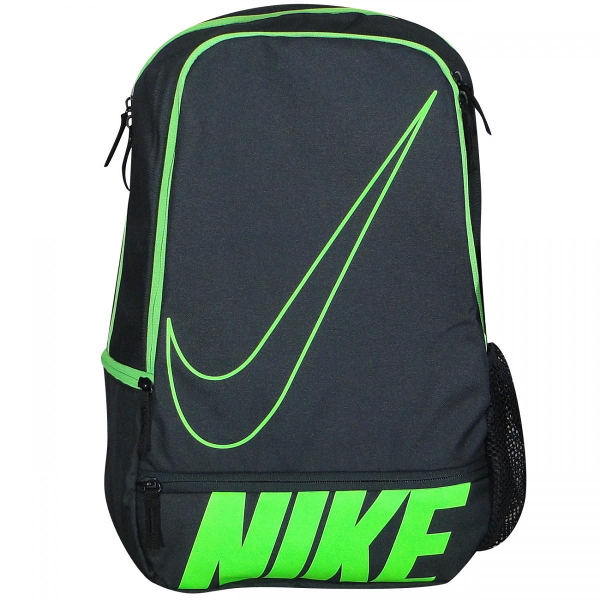 ec959ac67958b Mochila Nike Ref. BA4863 BA4863 063 - Preto Verde - Chuteira Nike ...