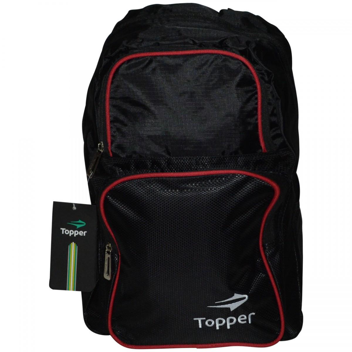 c754a85c5 Mochila Topper Training 4124609 0172 - Preto/Vermelho - Chuteira Nike,  Adidas. Sandalias Femininas. Sandy Calçados