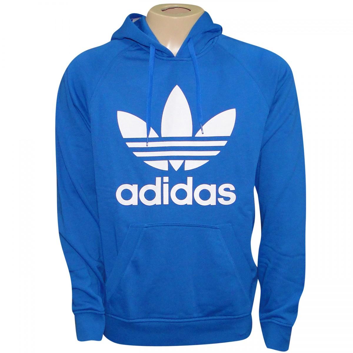 87d23861964 Moletom Adidas Originals Tref Hoody S23123 - Royal Branco - Chuteira Nike
