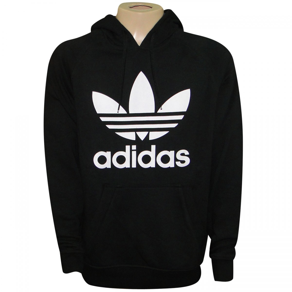 523bc2fe223 Moletom Adidas Originals Tref Hoody S23124 - Preto Branco - Chuteira Nike
