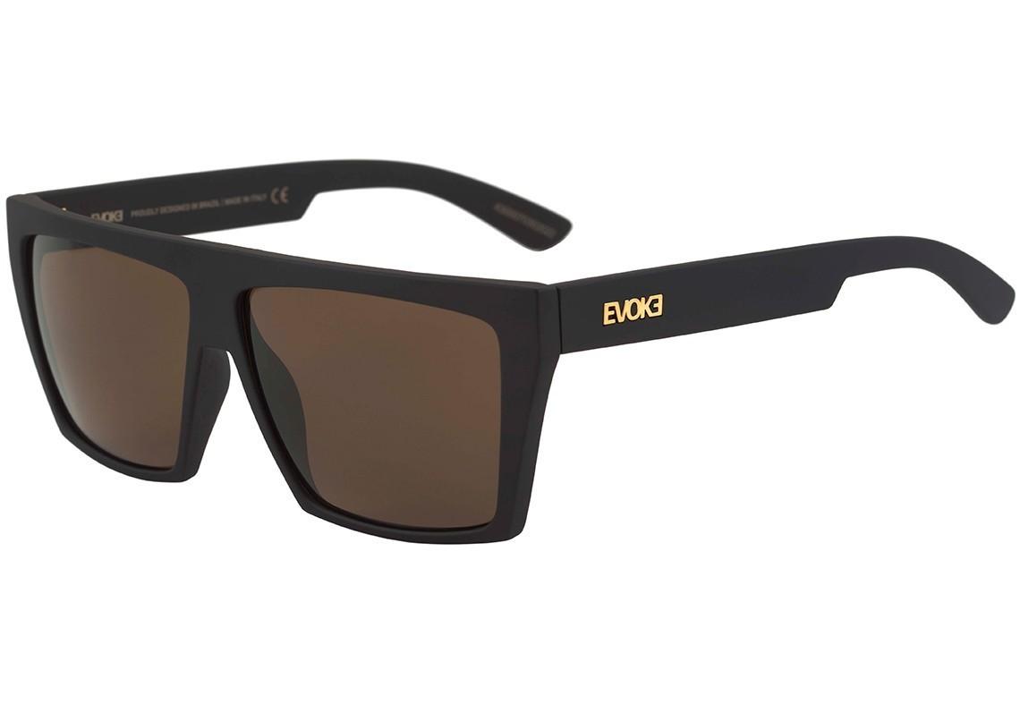 68bba3f4ba3c6 Oculos Evoke EVK15 EVK15 NA01G - Black Matte Gold Brown - Chuteira Nike
