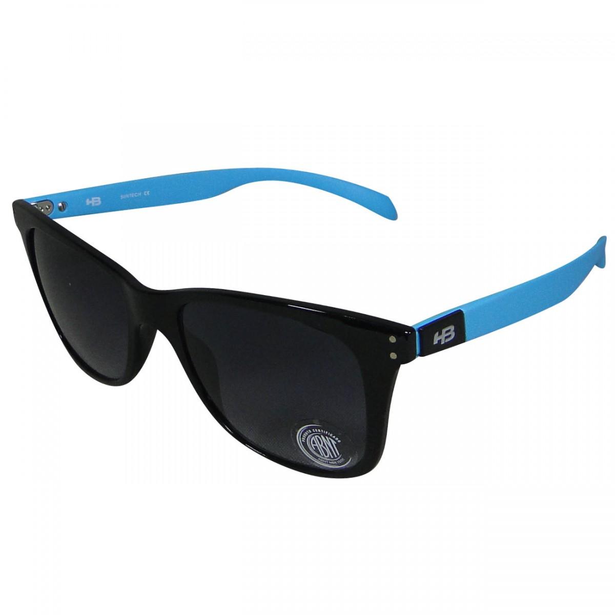 Oculos HB Landshark II 90113714 - Preto Gloss Azul - Chuteira Nike, Adidas.  Sandalias Femininas. Sandy Calçados d8d52807a8