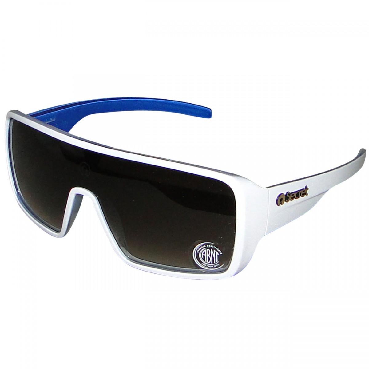 abf09618e Oculos Secret New Port 91364605 - Branco/Azul - Chuteira Nike ...