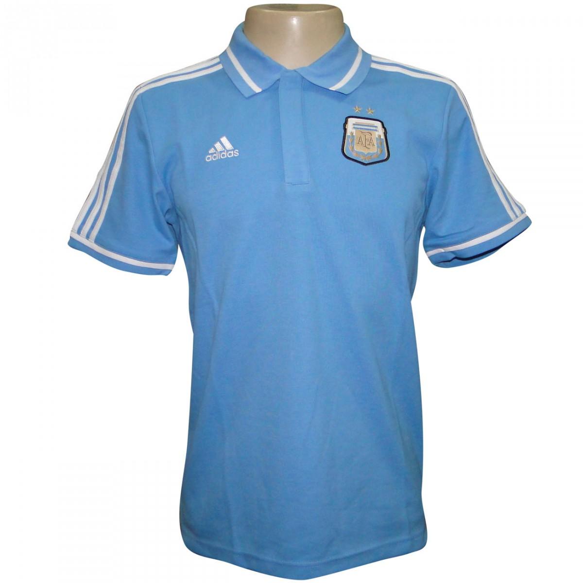a56fd66fe883a Polo Adidas Argentina 2014 F89256 - Celeste Branco - Chuteira Nike ...